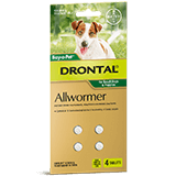 Drontal Allwormer Tablet for Small Dogs up to 3 kg