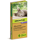 Drontal Allwormer Ellipsoid Tablet for Cats up to 4 kg
